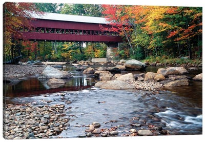 Covered Bridge over the Saco River, Conway, New Hampshire Canvas Art Print