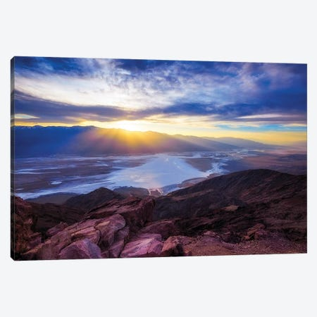 Dante's Point Sunset, Death Valley, California Canvas Print #GOZ66} by George Oze Canvas Art