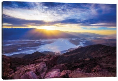 Dante's Point Sunset, Death Valley, California Canvas Art Print