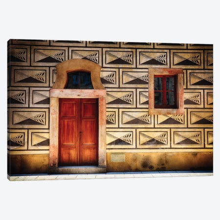 Door and Window Close Up in Prague Castle Canvas Print #GOZ68} by George Oze Canvas Print