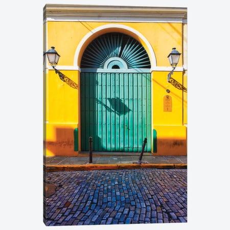 Door of the San Juan Museum, Puerto Rico 3-Piece Canvas #GOZ69} by George Oze Art Print