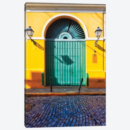 Door of the San Juan Museum, Puerto Rico Canvas Print #GOZ69} by George Oze Art Print