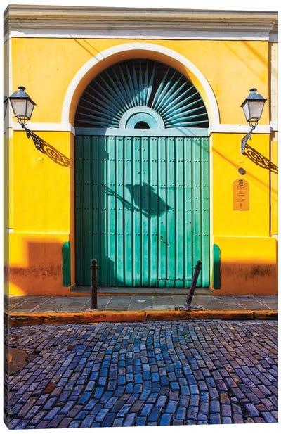 Door of the San Juan Museum, Puerto Rico Canvas Art Print