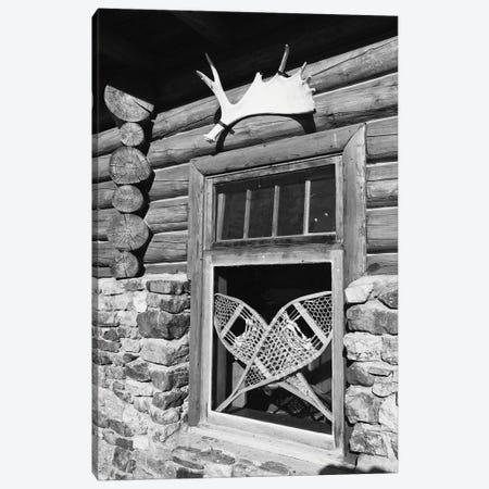 Alpine Lodge Window, Alberta, Canada Canvas Print #GOZ6} by George Oze Art Print