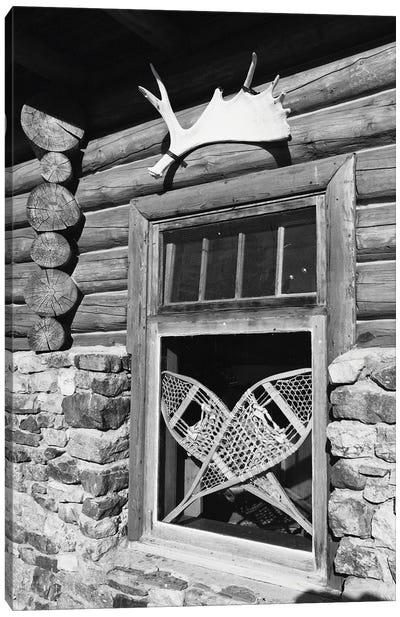 Alpine Lodge Window, Alberta, Canada Canvas Art Print