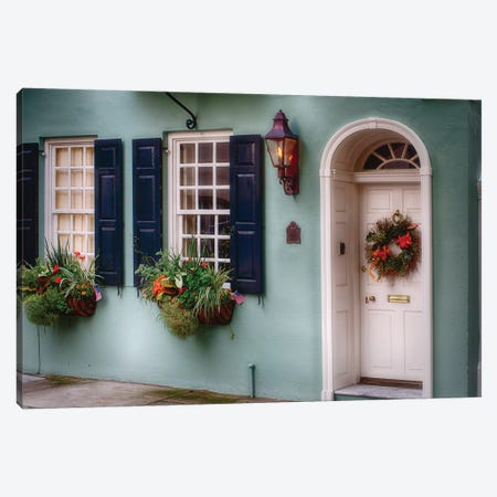 Entrance of a  Historic House in Charleston, South Carolina Canvas Print #GOZ72} by George Oze Canvas Art