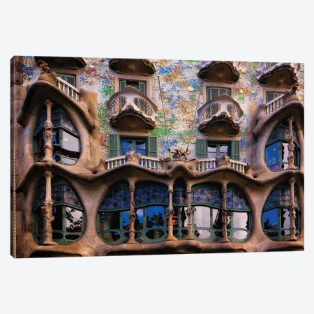 Facade of Casa Batllo, Barcelona, Catalonia, Spain Canvas Print #GOZ75} by George Oze Canvas Print