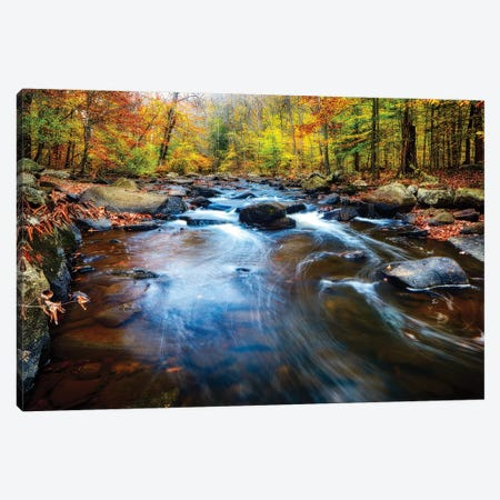Fall Scenic of a Rocky River, New Jersey Canvas Print #GOZ77} by George Oze Canvas Art Print