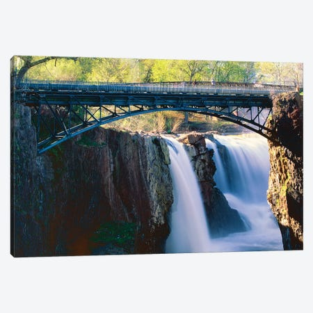 Footbridge Over the Great Falls of Paterson Canvas Print #GOZ79} by George Oze Canvas Artwork