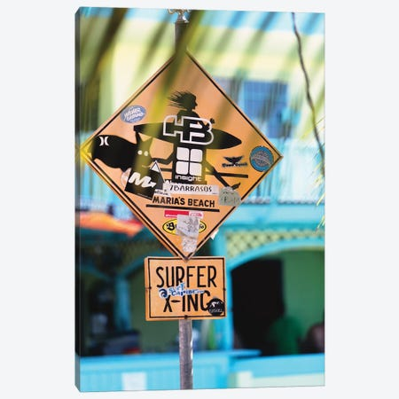 Fun Sign in Rincon, Puerto Rico Canvas Print #GOZ82} by George Oze Canvas Art Print