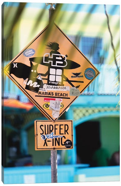 Fun Sign in Rincon, Puerto Rico Canvas Art Print