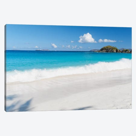 Gentle Waves on a White Sand Beach, Trunk Bay, St John, US Virgin Islands Canvas Print #GOZ84} by George Oze Canvas Artwork