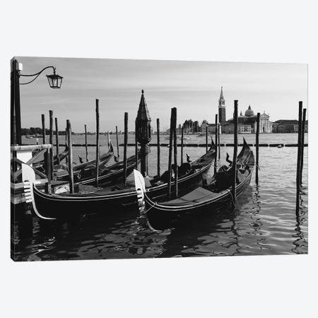 Gondolas of Venice Canvas Print #GOZ86} by George Oze Canvas Wall Art