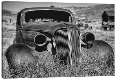 Antique Car Body Rusting Away, Bodie California Canvas Art Print
