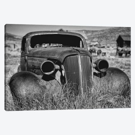 Antique Car Body Rusting Away, Bodie California Canvas Print #GOZ8} by George Oze Canvas Artwork
