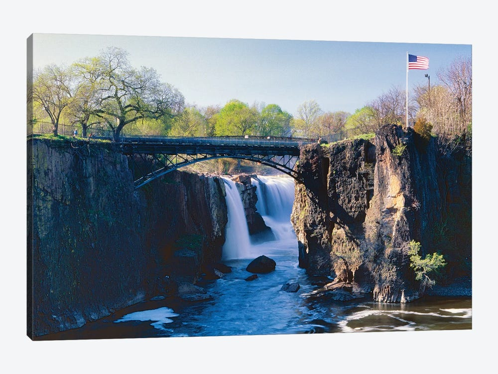 Great Falls of Passaic River, Paterson, New Jersey by George Oze 1-piece Canvas Art Print