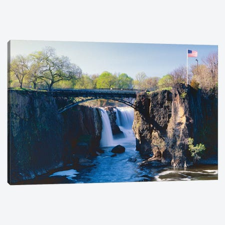 Great Falls of Passaic River, Paterson, New Jersey 3-Piece Canvas #GOZ91} by George Oze Canvas Art