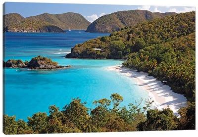 High Angle View of a Bay, Trunk Buy, St. John, US Virgin Islands Canvas Art Print