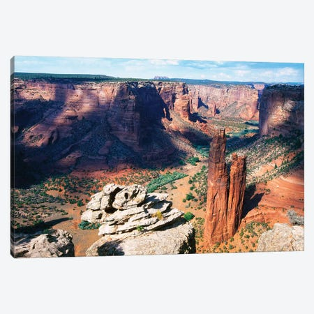 High Angle View of a Canyon, Canyon DeChelly at Spider Rock, Arizona Canvas Print #GOZ95} by George Oze Art Print