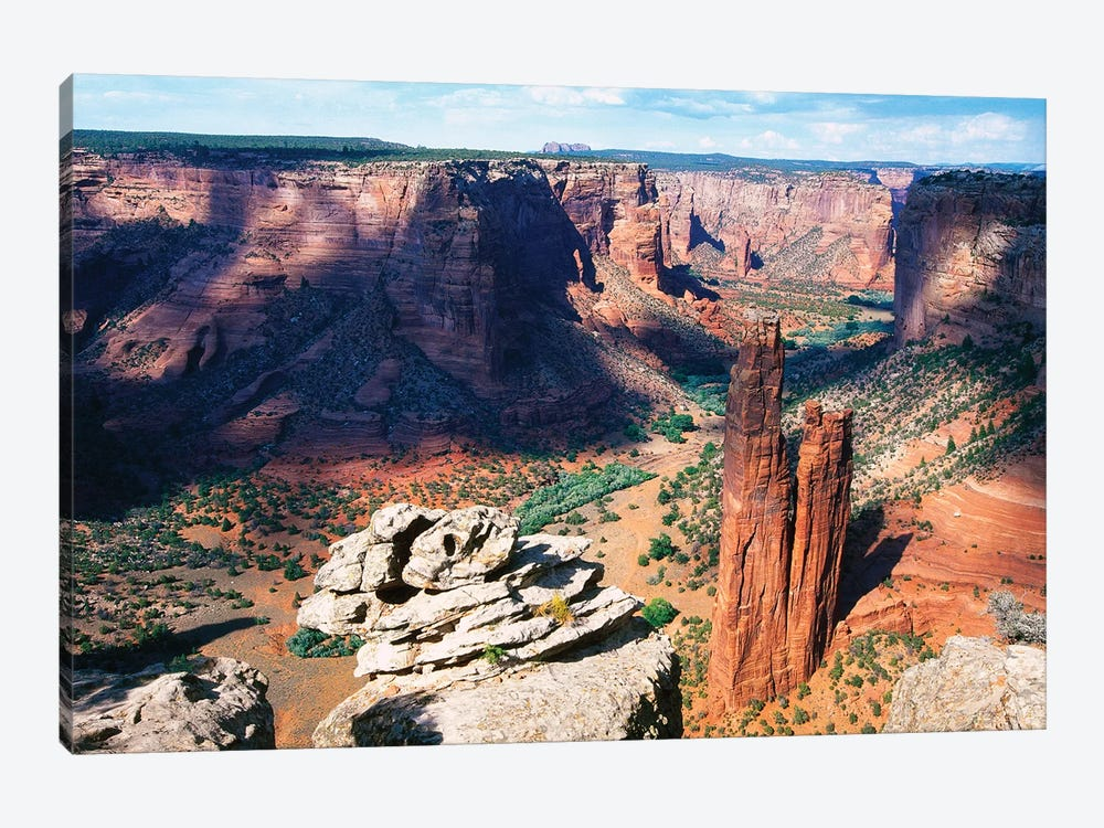 High Angle View of a Canyon, Canyon DeChelly at Spider Rock, Arizona by George Oze 1-piece Canvas Art Print