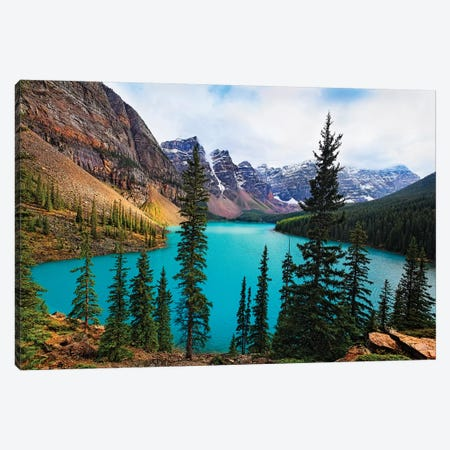 High Angle View of an Alpine Lake Canvas Print #GOZ99} by George Oze Canvas Artwork