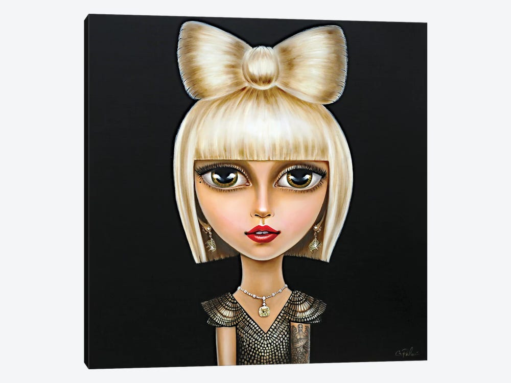 Lady Gaga by Gina Palmerin 1-piece Canvas Wall Art