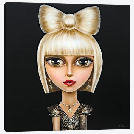Lady Gaga Canvas Print #GPA28} by Gina Palmerin Art Print