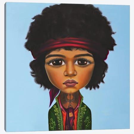 Jimi Hendrix Canvas Print #GPA30} by Gina Palmerin Canvas Art