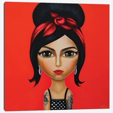 Amy Winehouse Canvas Print #GPA33} by Gina Palmerin Canvas Artwork