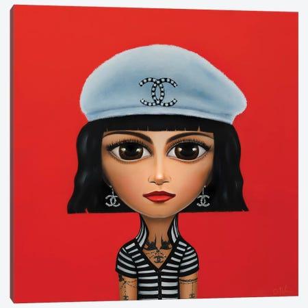 Coco Chanel Canvas Print #GPA34} by Gina Palmerin Canvas Print