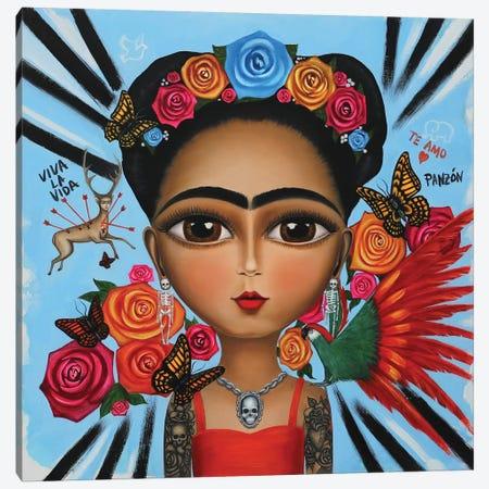 Frida Kahlo Remix Canvas Print #GPA35} by Gina Palmerin Canvas Art Print