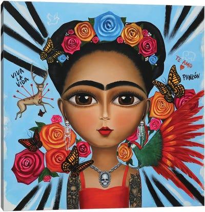 Frida Kahlo Remix Canvas Art Print