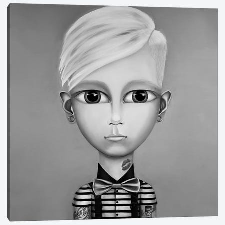 Andy Warhol Black And White Canvas Print #GPA39} by Gina Palmerin Canvas Art
