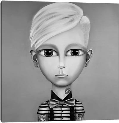 Andy Warhol Black And White Canvas Art Print