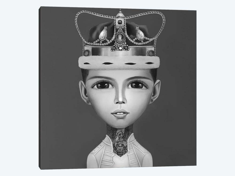 Freddie Mercury Black And White by Gina Palmerin 1-piece Art Print