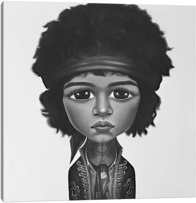 Jimi Hendrix Black And White Canvas Art Print