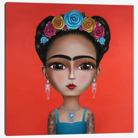 Frida Kahlo Canvas Print #GPA9} by Gina Palmerin Canvas Art Print