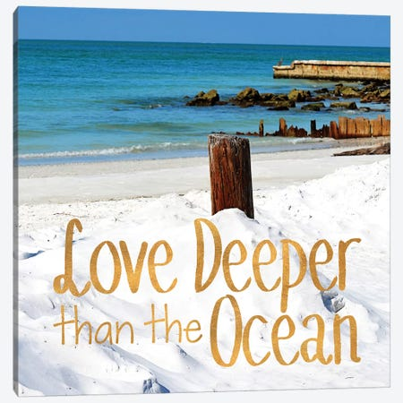 Love Deeper Canvas Print #GPE13} by Gail Peck Canvas Artwork