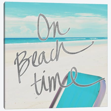 On Beach Time Canvas Print #GPE18} by Gail Peck Canvas Art