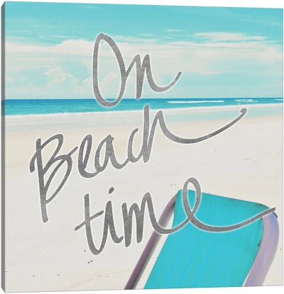 On Beach Time Canvas Art Print