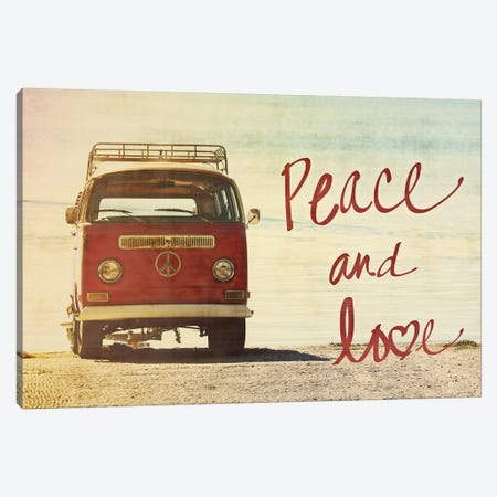 Peace and Love Canvas Print #GPE19} by Gail Peck Canvas Art