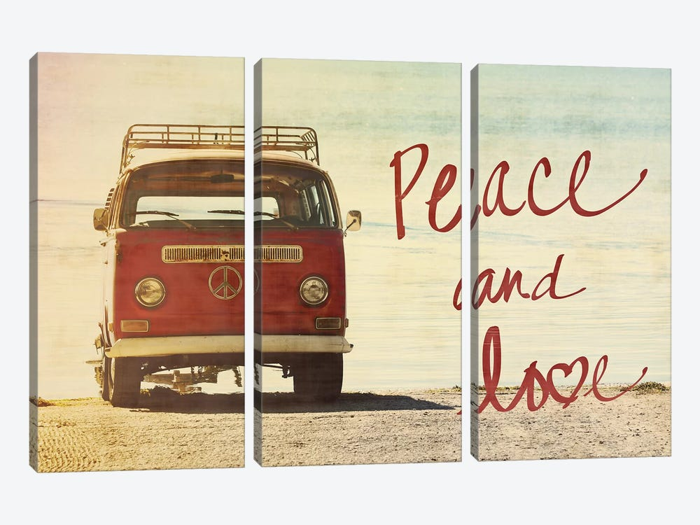 Peace and Love by Gail Peck 3-piece Canvas Print