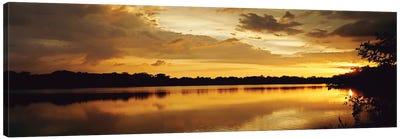 Yellow Sunset Canvas Art Print