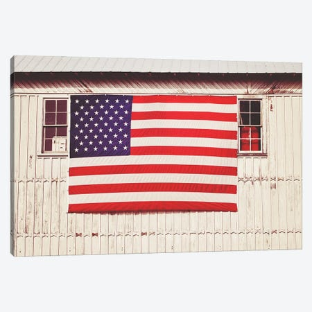 American Barn Canvas Print #GPE29} by Gail Peck Art Print