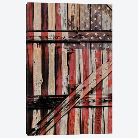 All American Fence Canvas Print #GPE2} by Gail Peck Art Print