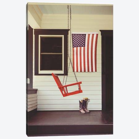 Patriotic Porch Canvas Print #GPE36} by Gail Peck Art Print