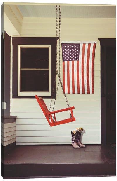 Patriotic Porch Canvas Art Print