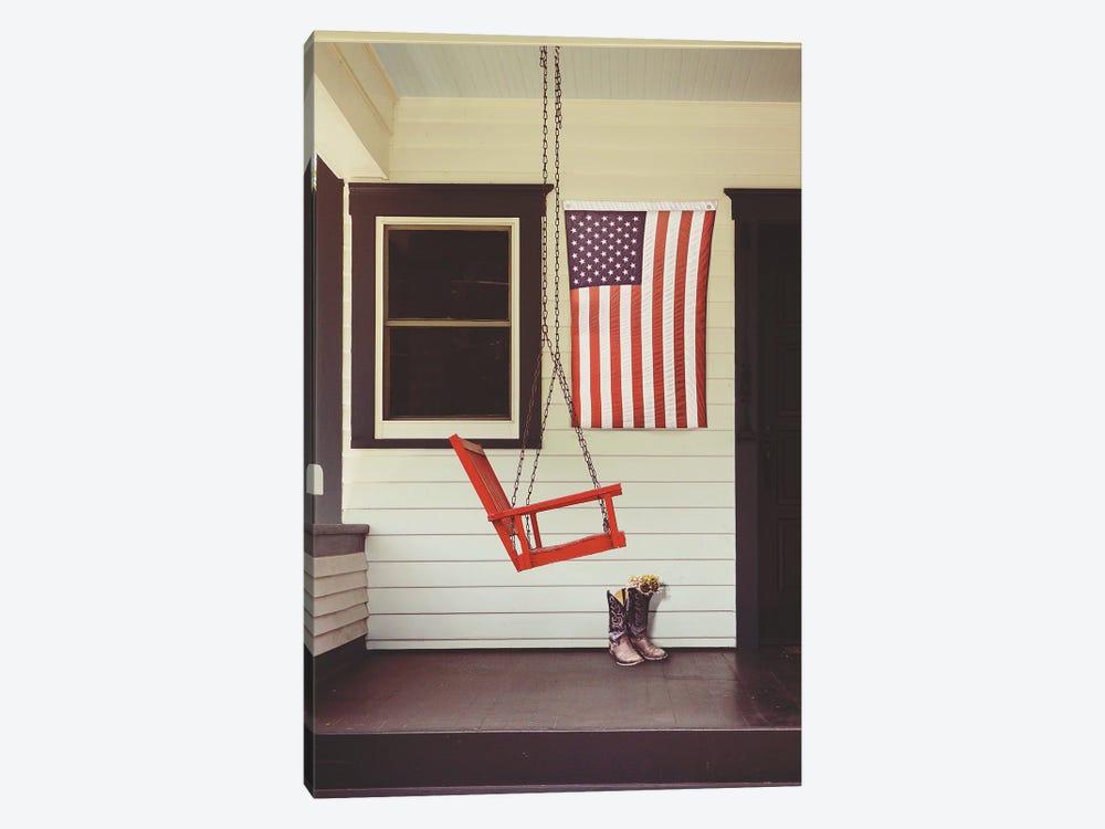 Patriotic Porch by Gail Peck 1-piece Canvas Wall Art