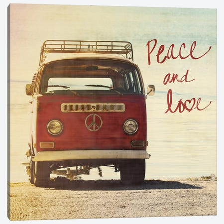 Peace and Love Canvas Print #GPE37} by Gail Peck Art Print