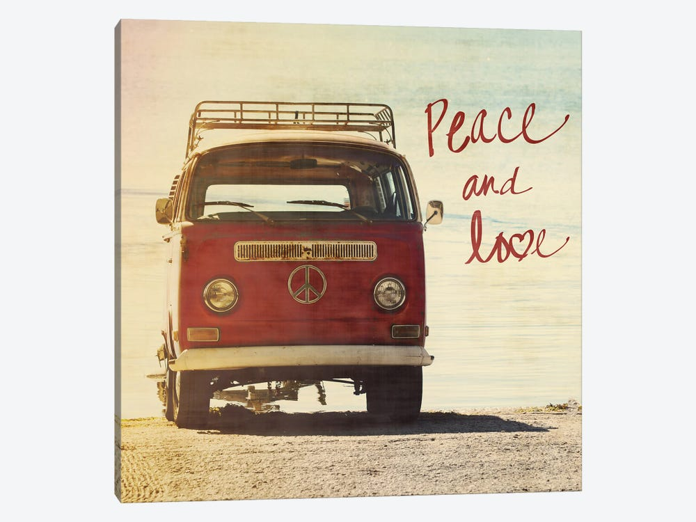 Peace and Love by Gail Peck 1-piece Canvas Art Print